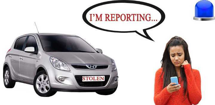 how to report a stolen car
