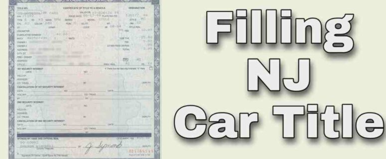 how to fill out car title in NJ